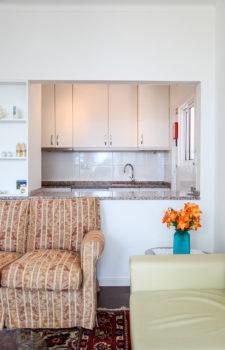 Durchreiche vom Wohnzimmer in die Küche