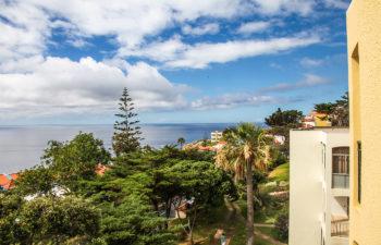 Ausblick von unseren Apartments in Canico de Baixo auf das Meer
